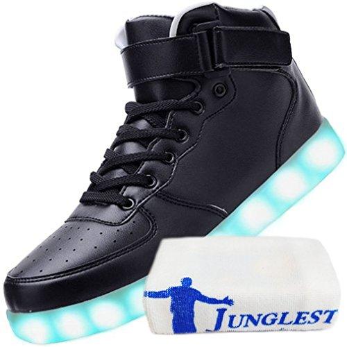(Presente:pequeña toalla)c15 EU 39, Zapatillas Zapatos Mujer LED Moda JUNGL