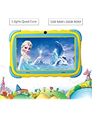 $54 » Kids Tablet - 7 inch IPS HD Eye Protection Screen Upgraded Children Tablets, 16GB ROM WiFi Camera Bluetooth & Kids-Proof Case Android Tablet
