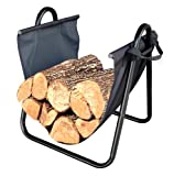 Landmann USA 82431 Firewood Log Holder with Canvas Carrier