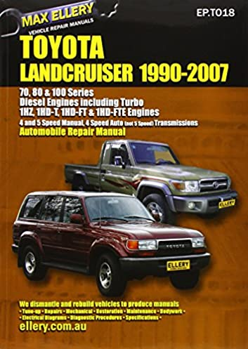 toyota landcruiser 1990 2007 automobile repair manual diesel rh amazon com 12H802 Manual Downloadable Online Chevrolet Repair Manuals