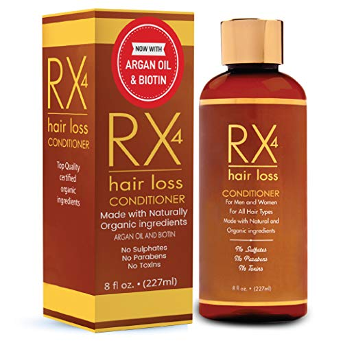 RX 4 Hair Loss Conditioner for Thinning Hair, DHT Blocker, Naturally Organic with Biotin, Aids in Hair Regrowth, Doctor Recommended Growth Shampoo Treatment System Shampoo Sold Separate (Best Solution For Hair Loss Naturally)