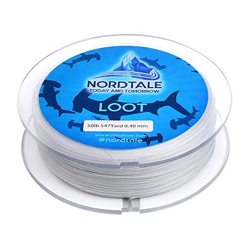 Nordtale Loot Braided Fishing Line 300yards 547yards - Improved Braided Fishing Lines - Abrasion Resistance - Zero Stretch - Thinner Diameter 6lb-50lb