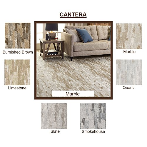 SAMPLE (Unbound) Marble - CANTERA Brush Strokes - Custom Carpet Area Rug - 40 Oz. Tufted, Pinpoint Saxony - Nylon by Milliken (6 Colors to Choose From) (40 Ounce Nylon Carpet)