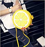 Money coming shop New Arrival Round Lemon Orange Pattern Zipper...