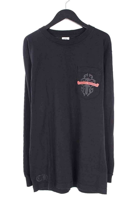 (クロムハーツ) Chrome Hearts バックダガープリント胸ポケットカットソー(M/ブラック) 中古 B07F62H335  -