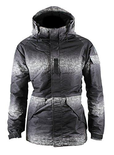 Mens Camouflage Hooded Waterproof Winter Snowboard Ski Jacket Twotone Military