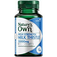 Nature's Own High Strength Milk Thistle 35000mg Capsules - Liver Tonic - Supports Detoxification Processes, 60 count