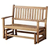 Hinkle Chair Company Stained Plantation Porch Glider, 5', Maple