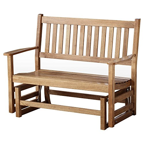 Hinkle Chair Company Stained Plantation Porch Glider, 5', (Jumbo Wide Body Cart)