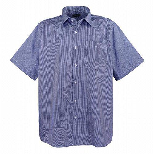 LAVECCHIA HKA 208 Herren Business Freizeithemd kurzarm bis 7XL Blau Weiß Kariert Übergrößen Oberhemd Karo Hemd modern