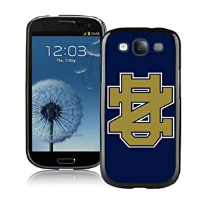 Beautiful And Unique Designed Case For Samsung Galaxy S3 With Notre Dame Fighting Irish Black Phone Case