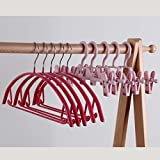 Clothes Rack Household Dip Hanger Metal Non-slip Clothes Rack No Trace Stainless Steel Hook Up Drying Pants Rack Hanging Adult Clothes (Color : Ink)