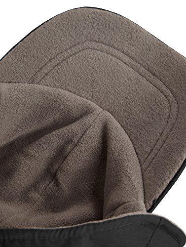 cordón wintercap con oído Protección y Interior Invierno negro marino forro talla de Gorro ajustable Forro polar única azul 5HwxnAAqIU