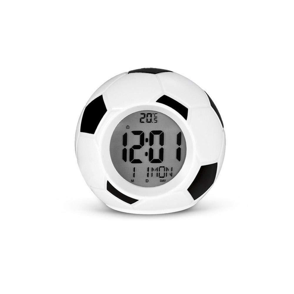 DZXYW Reloj Despertador Despertador de Modo fútbol Pantalla de ...
