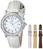 Invicta Women's Wildflower Mother-Of-Pearl Dial Silver Tone Leather Watch Set INVICTA-11782