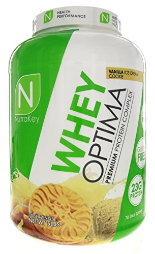 UPC 851090006256, Nutrakey Whey Optima Protein Powder, Vanilla Ice Cream Cookie, 5 Pound