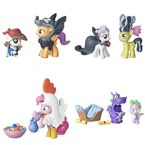Pony My Little Friendship is Magic Collection Pip Pinto Squeak & Scootaloo, Sweetie Belle & Appple Bloom, Pinkie Pie & Spike The Dragon Figure Bundle
