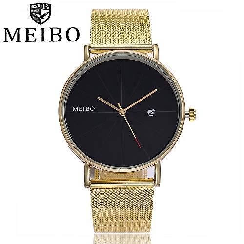 Darringls_Reloj MEIBO/MB42,Reloj de Pulsera de Cuarzo analógico de Acero Inoxidable para Hombre Relojes Deportivos Relojes Casual De Moda Negocios: ...