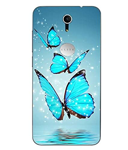new product 39ac3 4d9a5 Snazzy Butterfly Printed Blue Soft Back Cover For Swipe: Amazon.in ...