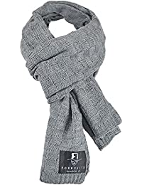Stylish Unisex Daily Square Pattern Soft Knitted Winter Scarf E5031
