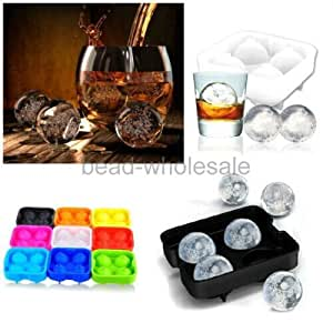 Wholesale/retail Creative Party Bar Kitchen Whiskey Spherical Round Ball Ice Cube Maker Tray Mold Mould/Cake Mold/Ice Cream Mold