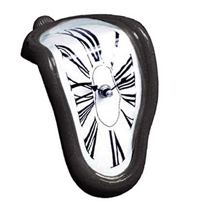 Homyl Reloj Derretido, Melting Clock, Diseño Novedoso - Negro