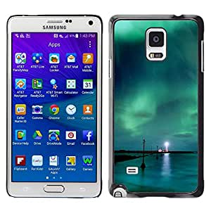 Stuss Case / Funda Carcasa protectora - Aurora Borealis Faro - Samsung Galaxy Note 4