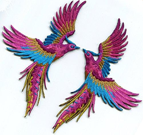 Phoenix magenta embroidered appliques S 1330