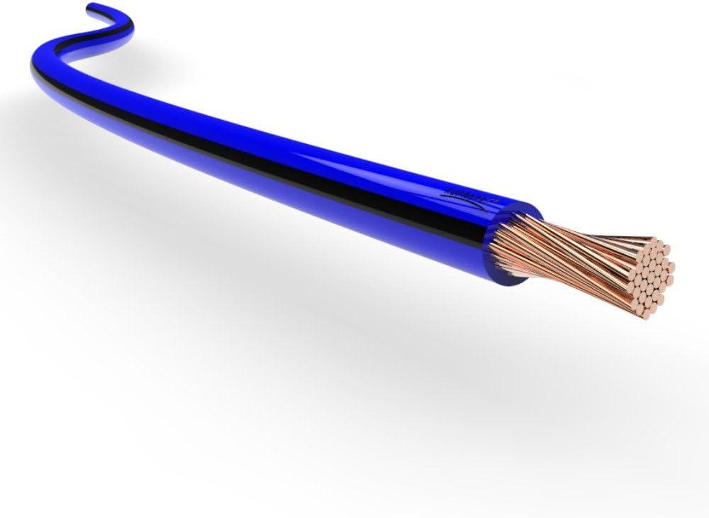 5m metri 0.75 mm/² filo di rame, blu-rosso Cavo elettrico unipolare 0.75 mm/² Filo elettrico per auto moto autocarro 5m o 10m selezione: