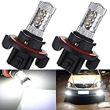 KATUR 2Pcs H13 9008 80W White CREE LED 1920LM 6000K Projector Car Auto Fog Headlight DRL Light Lamp Bulb
