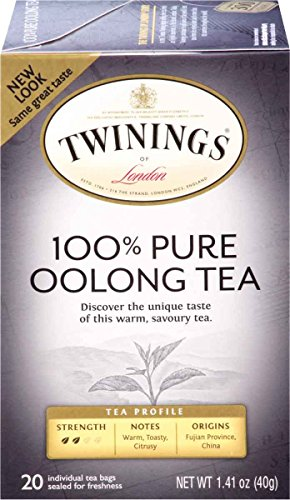 Twinings of London 100% Pure Oolong Tea, 20 Count (Pack of 6)