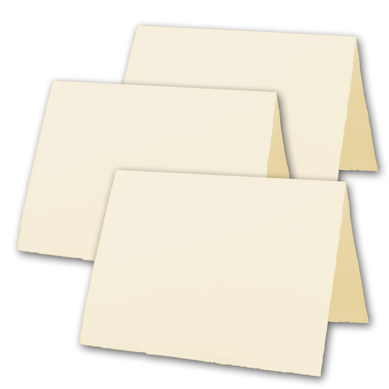 150x 150x 150x DIN A5 Vintage Falt-Karten, echtes Bütten-Papier, 148 x 210 mm - hoch-doppelt, Chamois-Elfenbein 240 g m² - Vellum Oberfläche - Original Zerkall-Bütten B07NLDJFJK | Neuheit  386f1e