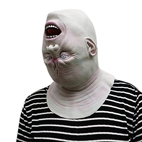 ABCsell 2017 Down Full Head Deluxe Novelty Halloween Scary Costume Party Latex Head Mask