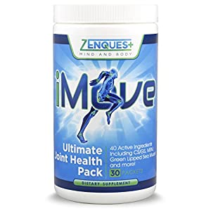 Joint Supplements - iMove Ultimate Joint Health by ZenQuest, Glucosamine, Chondroitin, MSM 1900mg, Turmeric 95%, Green Lipped Mussel, Arthritis, Osteoarthritis & Joint Pain Relief Supplements 30 pack
