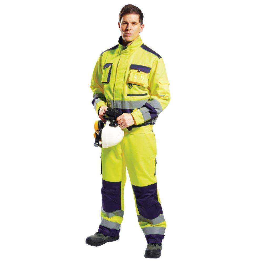 Size: Small Portwest TX50ONRS Lille Hi-Vis Jacket Regular Orange//Navy