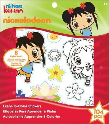 Amazon.com: Nickelodeon Ni Hao, Kai-lan Learn-To-Color Stickers Kit ...