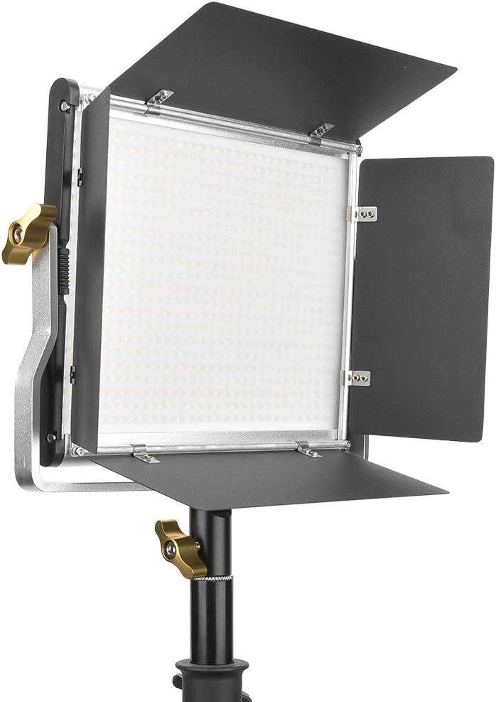 Product Photography YouTube Black Video Shooting Oumij LED Video Light ,3200-5600K Bi-Color CRI 95+ Dimmable Camcorder Camera Photo LED Light,with Barn Door,for Studio