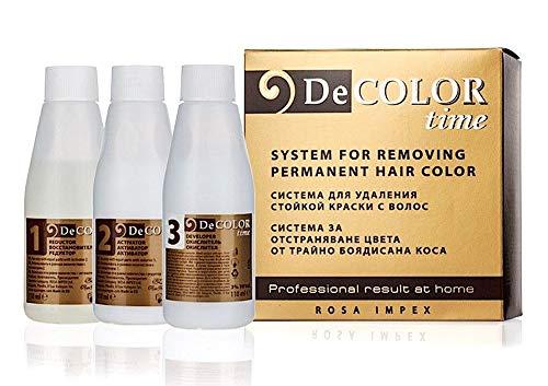 🥇 Sistema para eliminar el color permanente del pelo  decolor time