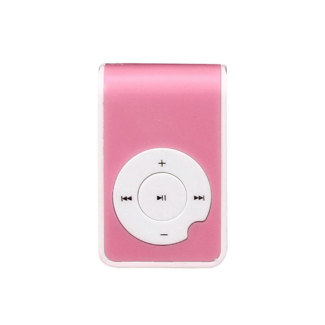 Start Sport Relax Mini Clip Protable USB MP3 Player Support Micro SD TF Card Music Media-Pink