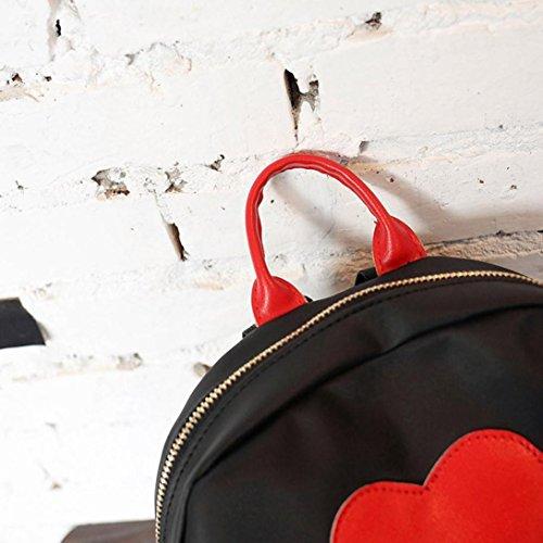 de Por Libre Casual rojo Piel Tipo Pequeñas de Aire Mujer Senderismo ESAILQ y Mochila para Niña Bolsos E 6Txn0w