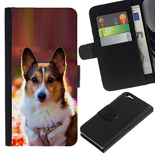 EuroCase - Apple Iphone 6 4.7 - corgi rembroke welsh cardigan dog - Cuir PU Coverture Shell Armure Coque Coq Cas Etui Housse Case Cover
