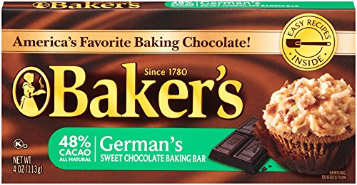 - Baker's Sweet German Chocolate Baking Bar (4 oz Bars, Pack of 12)