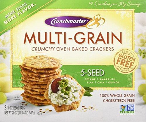 Crunchmaster 5 Seed Multigrain Cracker, 20 (Gluten Free Crackers)