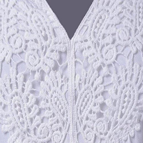 Yardas grandes amplia camisa de gasa Leisi de la canción estilo caliente de las mujeres con cuello en V blusa de la camisa de manga corta Purple