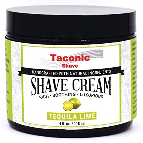 (Taconic Shave Lime Shaving Cream, Creates a Rich and Luxurious Lather - 4 oz. - Made in The USA)