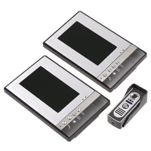 KKmoon 7 Inch Video Door Phone Doorbell Intercom Kit 1-camera 2-monitor Night Vision by KKmoon (Image #2)