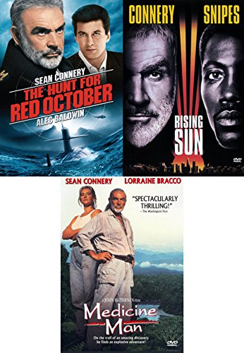Majestical SEAN CONNERY Triple Feature: The Hunt For Red October/ Rising Sun/ Medicine Man (DVD 3 - Scott Glenn Man Fire On