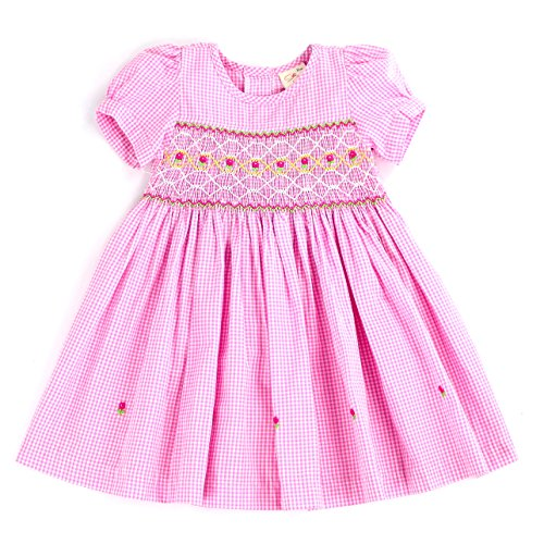 - THE SILLY SISSY-Infant and Toddlers (9-12M - 4T) Hand Smocked Dress | Remy Redmond's Plaid (Pink Gingham, 4T)