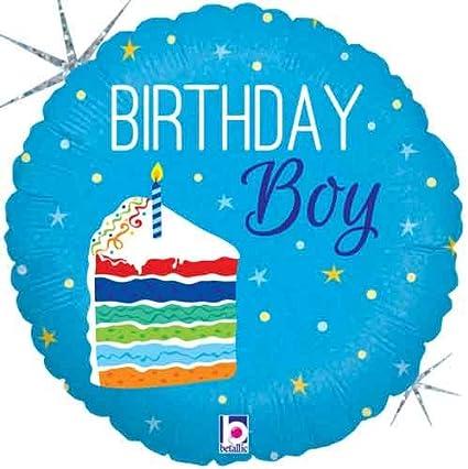 Amazon 18 Birthday Cake Boy Foil Balloon Toys Games