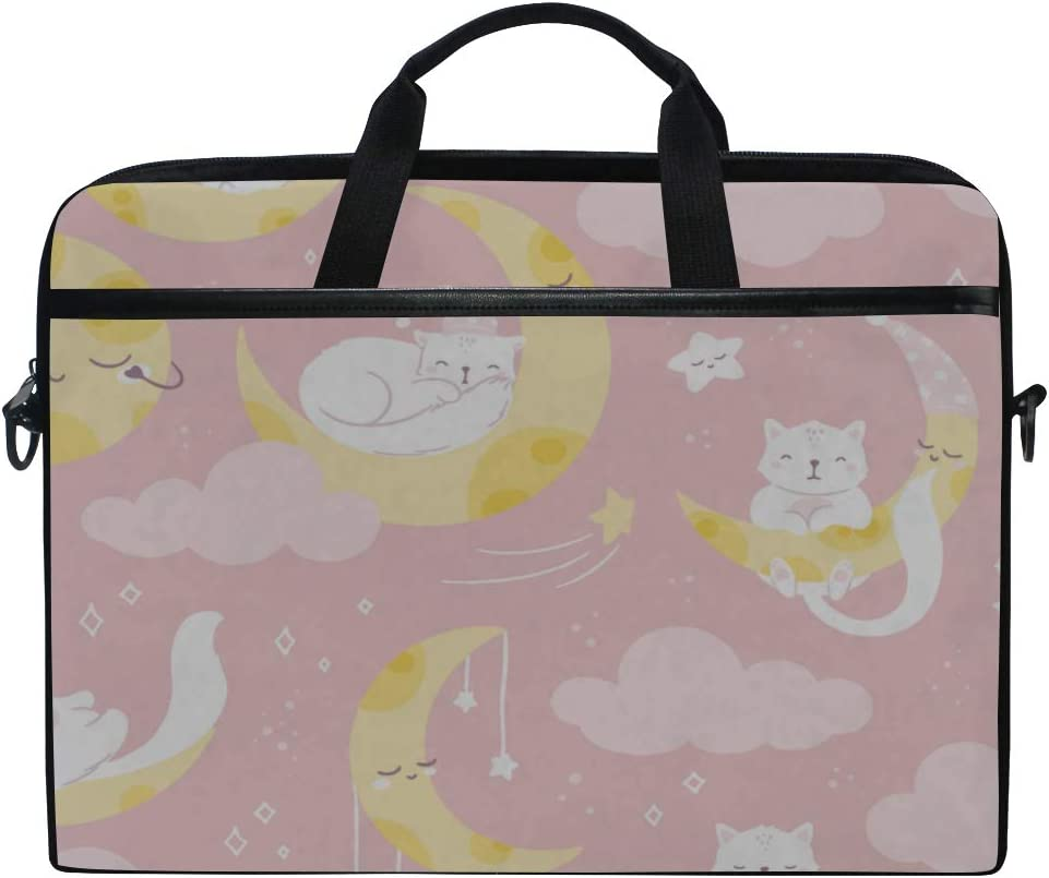 Laptop Bag Pink Girls Cute 15-15.4 Inch Laptop Case Briefcase Messenger Shoulder Bag for Men Women College Students Business People Office Workers
